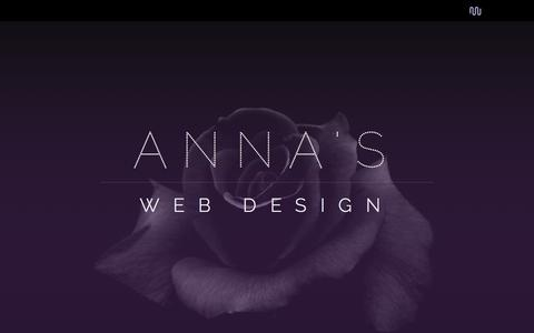 Screenshot of Home Page About Page Contact Page Services Page annaswebdesign.com - New York Web Design :: Affordable Web Design - captured May 30, 2017