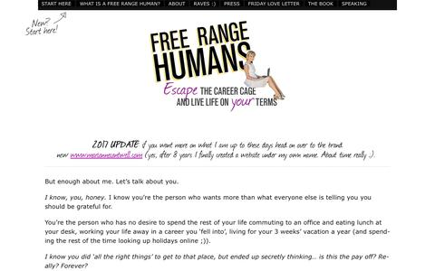 Screenshot of About Page free-range-humans.com - About Marianne | Free Range Humans - captured June 24, 2017