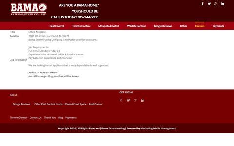Screenshot of Jobs Page callbama.com - Careers | - captured Nov. 22, 2016