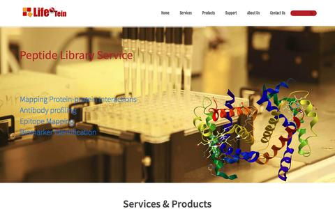 Screenshot of Home Page lifetein.com - Peptide Synthesis: Custom Peptide Synthesis Service Company - LifeTein - captured Aug. 5, 2017