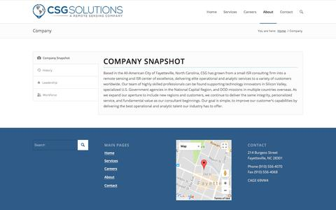 Screenshot of About Page Team Page csg-isr.com - CSG     Company - captured Jan. 16, 2018