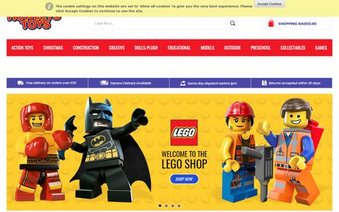 Screenshot of Home Page howleys.co.uk - Howleys Toys | Thousands Of Brands At Great Prices| Search Now! - captured Sept. 30, 2018