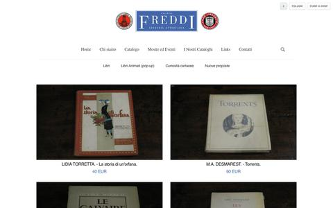 Screenshot of Products Page tictail.com - Libreria Freddi - captured March 23, 2017