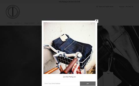 Screenshot of Home Page dawsondenim.com - Dawson Denim British Made Workwear from Japanese Selvedge Workwear - captured June 18, 2017
