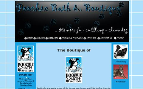 Screenshot of Products Page poochiebath.com - Poochie Bath and Boutique - captured Oct. 3, 2014