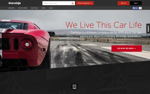 Screenshot of Team Page carninja.com - CarNinja - We Live This Car Life - captured Oct. 28, 2014