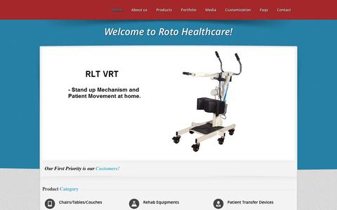 Screenshot of Home Page rotohealthcare.net - Roto Healthcare - captured Feb. 15, 2016