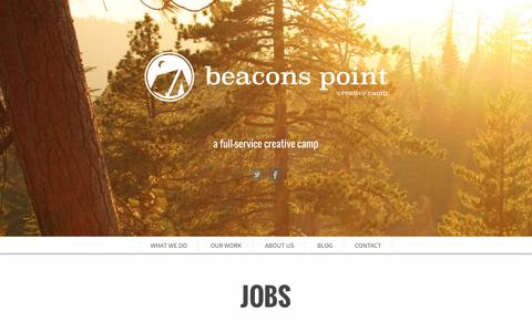 Screenshot of Jobs Page beaconspoint.com - Jobs - Beacons Point - captured Feb. 7, 2016