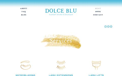 Screenshot of Menu Page dolcebluaustin.com - All — Dolce Blu Austin - captured Nov. 14, 2018
