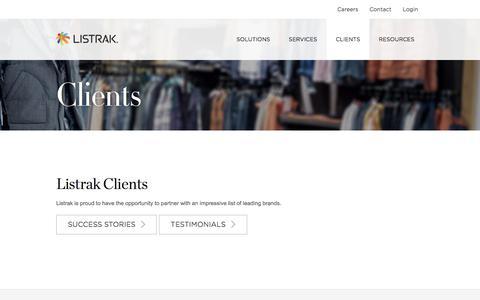 Listrak Clients   Omnichannel Retailers   Listrak