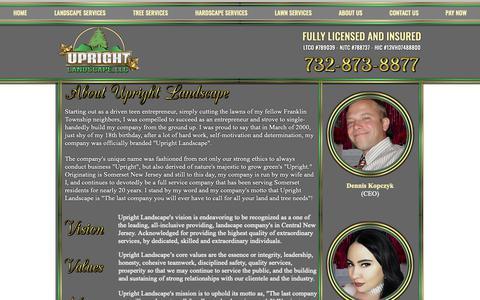 Screenshot of About Page uprightnj.com - Upright Landscape | About Us | Somerset, NJ - captured Nov. 15, 2018