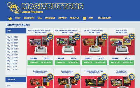 Screenshot of Products Page magixbuttons.com - Latest products | Magix Buttons - captured May 27, 2017
