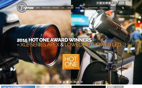 Screenshot of Home Page tiffen.com - Tiffen - Steadicam, DFX, Domke & More - captured Oct. 1, 2015