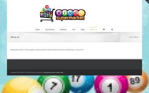 Screenshot of About Page bingosupermarket.com - Bingosupermarket   –  About us - captured Feb. 7, 2016