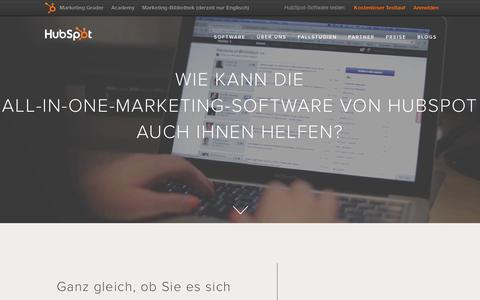 Screenshot of Products Page hubspot.de - HubSpot – Produktübersicht - captured Feb. 20, 2016