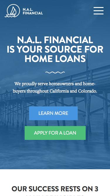 Screenshot of Home Page  nalfinancial.com - N.A.L. Financial