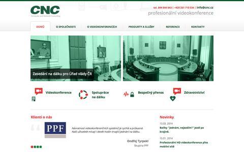 Screenshot of Home Page cnc.cz - CNC Praha  ... spolupráce na dálku ... - Blank Component - captured Oct. 1, 2014