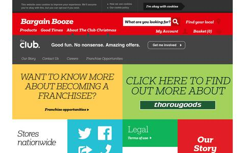 Screenshot of About Page bargainbooze.co.uk - About Us - captured Dec. 12, 2018