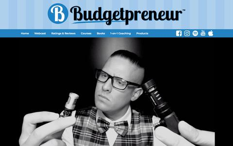 Screenshot of Products Page budgetpreneur.com - Products - Budgetpreneur™ - captured Nov. 13, 2018