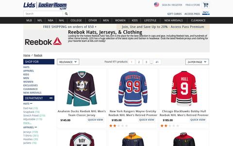 Reebok Hats, Apparel, Clothing, Reebok Jerseys | lids.com