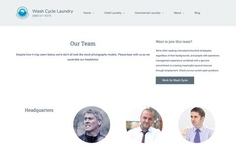 Screenshot of Team Page washcyclelaundry.com - Our Team   Wash Cycle Laundry - captured Nov. 16, 2018