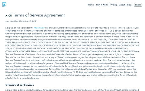 Terms of Service – x.ai