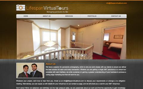 Screenshot of About Page lifespanvirtualtours.com captured Sept. 30, 2014