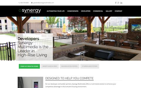 Screenshot of Developers Page synergymultimedia.com - Developers - Synergy Multimedia - captured Oct. 9, 2014