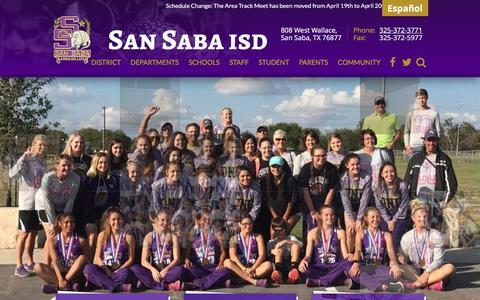 Screenshot of Home Page san-saba.net - San Saba Independent School District - captured April 17, 2017