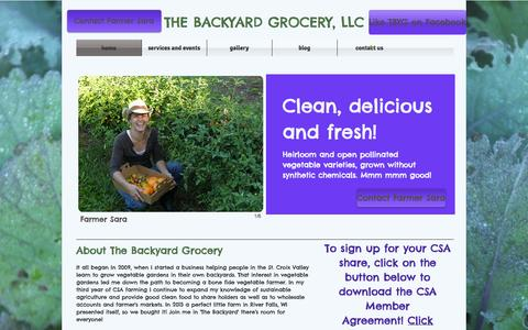 Screenshot of Home Page thebackyardgrocery.com - The Backyard Grocery, LLC - captured Oct. 6, 2014