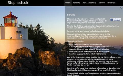 Screenshot of Home Page stophash.dk - Til forældre om unge og hash - captured Oct. 7, 2014