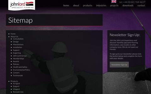 Screenshot of Site Map Page john-lord.com - Sitemap - captured Nov. 20, 2018