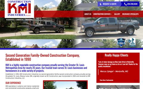 Screenshot of About Page kmiconstructionllc.com - About Us | KMI Contruction - captured Sept. 25, 2018