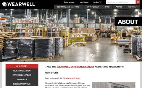 Screenshot of About Page wearwell.com - About | Wearwell Anti-Fatigue Mats - captured Oct. 7, 2014