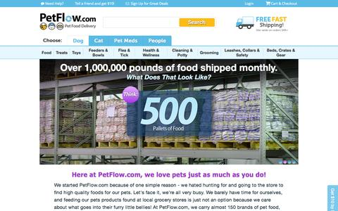 Screenshot of About Page petflow.com - PetFlow | About Us - captured June 16, 2015