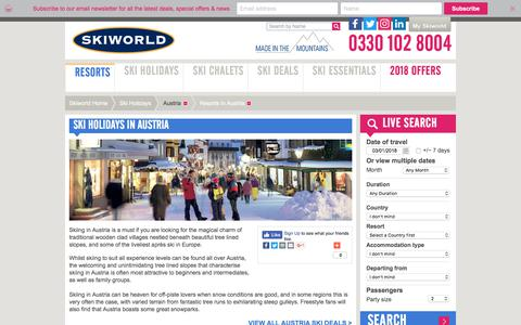 Austria Ski Holidays & Catered Ski Chalets | Skiworld