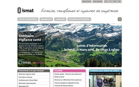 Screenshot of Home Page ismat.com - ismat - Bienvenue chez ismat - captured March 20, 2016