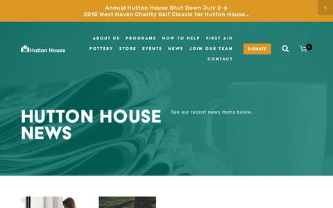 Screenshot of Press Page huttonhouse.com - News — Hutton House - captured July 23, 2018