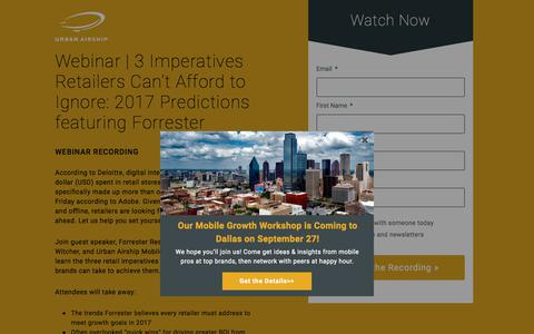 Webinar | Forrester Retail Case Study PST