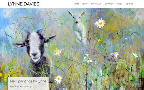 Screenshot of Home Page lynnedavies.com - Lynne Davies Art - Paintings & Limited Edition Prints - captured Nov. 3, 2015