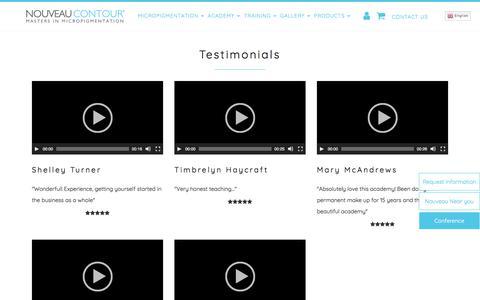 Screenshot of Testimonials Page nouveaucontourusa.com - Testimonials - Nouveau Contour Usa : Nouveau Contour Usa - captured Nov. 8, 2017