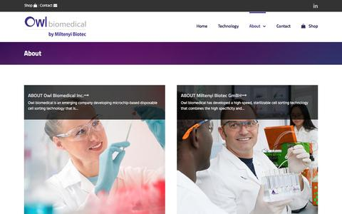 Screenshot of About Page owlbiomedical.com - About – Owl Biomedical - captured June 18, 2017