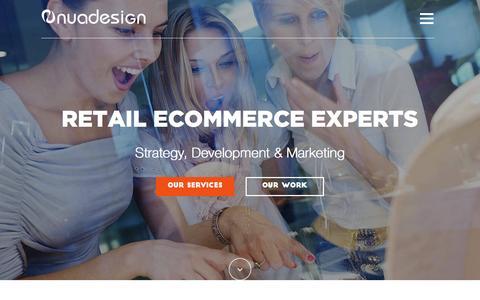 Screenshot of Home Page nuadesign.com - Award Winning Magento eCommerce Web Design & Development - captured Aug. 16, 2015