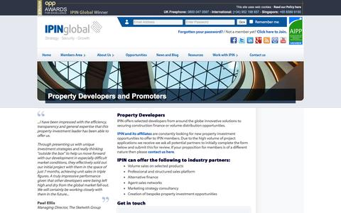 Screenshot of Developers Page ipinglobal.com - Developers and Promoters | IPIN Global - captured Dec. 21, 2015
