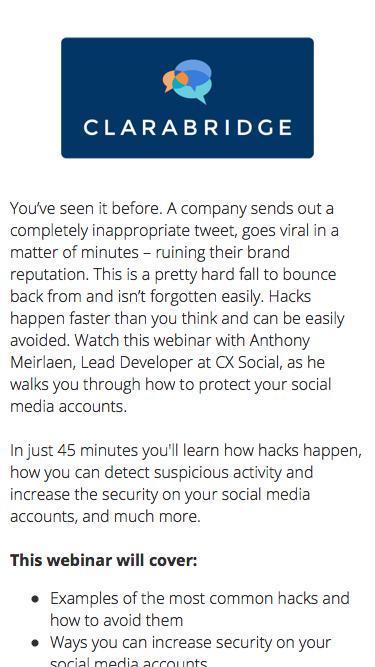 Webinar: Secure Your Social Media Accounts
