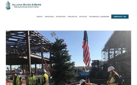 Screenshot of Blog abbae.com - Learn the Latest | Allana Buick & Bers, Inc. - captured Jan. 10, 2018