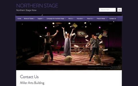 Screenshot of Contact Page northernstage.org - Contact Us | northern stage - captured Sept. 30, 2014