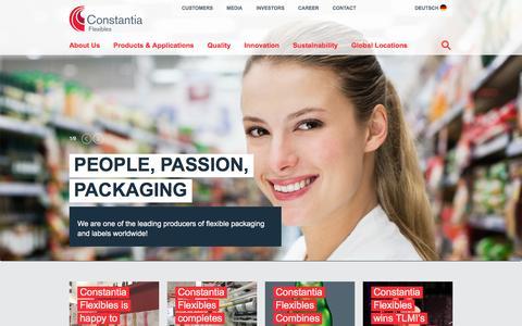 Screenshot of Home Page cflex.com - Flexible Packaging - Constantia Flexibles - Constantia Flexibles - captured Nov. 11, 2016