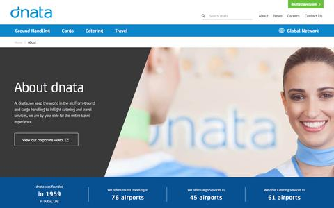 Screenshot of About Page dnata.com - About dnata | dnata - captured Aug. 17, 2019