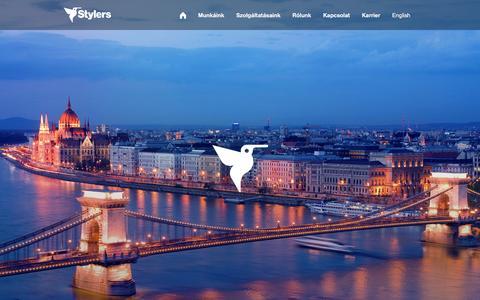 Screenshot of Home Page stylers.hu - Stylers Group | Rendszereket alkotunk - captured Feb. 26, 2016